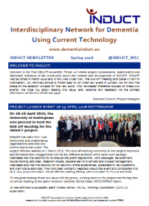 dementiainduct.eu image: Newsletter Spring 2016